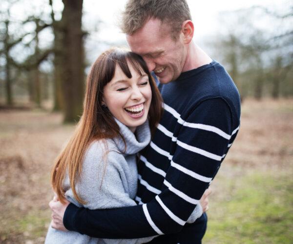 Super fun engagement shoot Dunham Massey, Cheshire | Rebecca & Andy