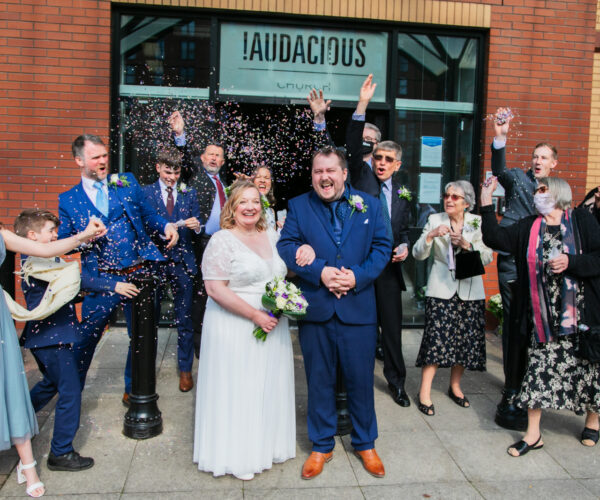 Jo and Pete's Audacious wedding, Manchester